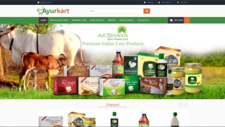 Opencart Website For Ayurkart