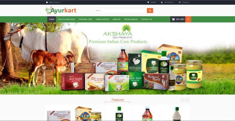 Opencart Website For Ayurkart