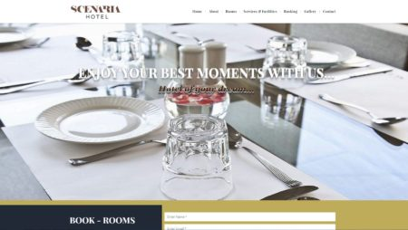 PHP Website For Scenariahotel